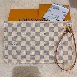 Louis Vuitton 2019 GM Damier Azur Wristlet Pouch